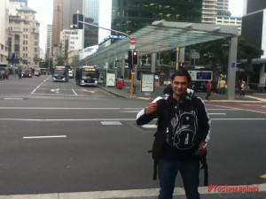 Primera foto en Nueva Zelanda