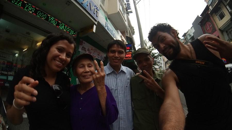 Familia Vietnamita que conocimos en Dalat y nos encontramos en Ho Chi Minh